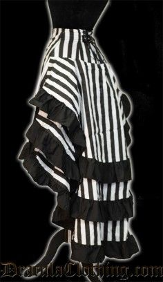 Striped Bustle Layer Skirt  As part of a genderbent BeetleJuice?!