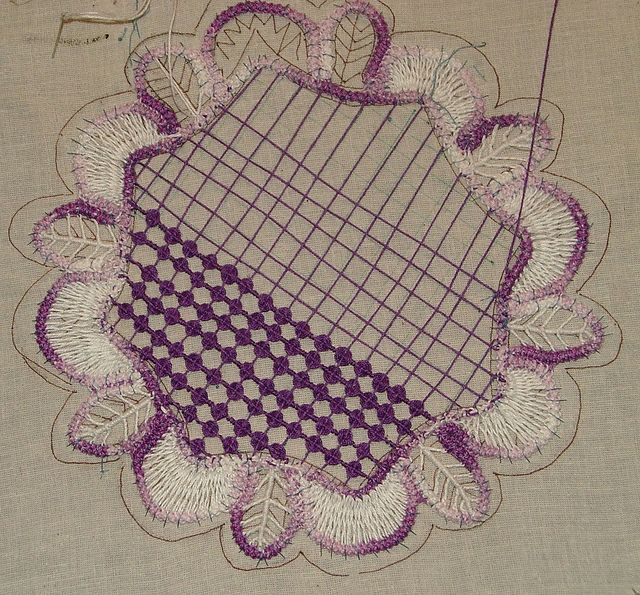 Romanian point lace -tutorial Making Lace