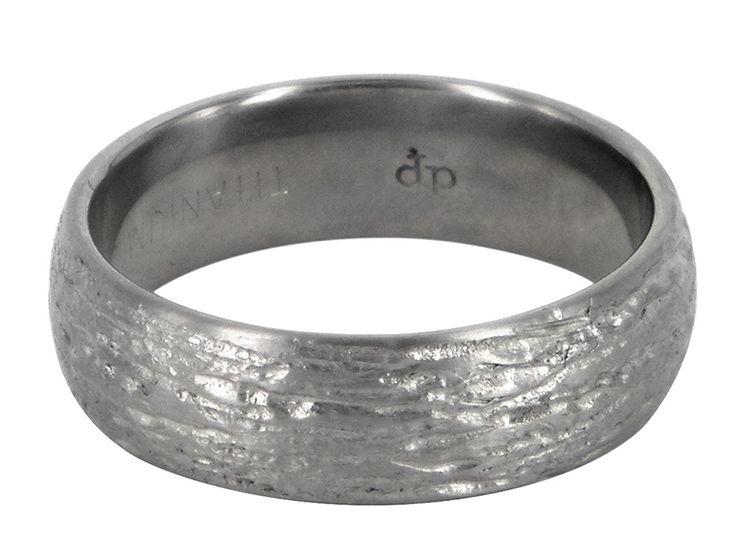 Grinder titanium wedding ring