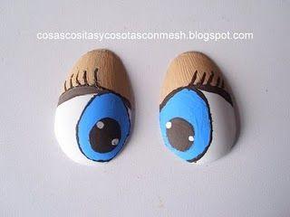 Para fabricar ojos a los Gumis a base de cucharas plasticas, cosascositasycosotasconmesh