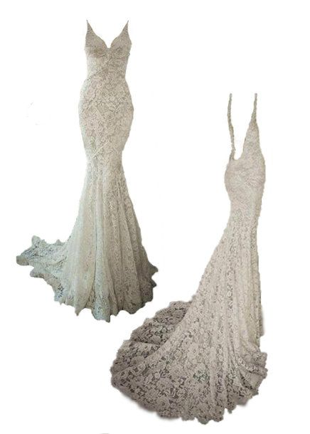 Isabella lace wedding dress by Boo Le Heart Trumpet Mermaid style Bridal gown