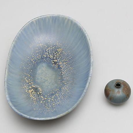 CARL HARRY STÅLHANE. Fat, stengods, Rörstrand. Keramik & Porslin - Orientaliskt – Auctionet