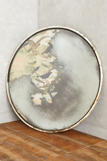 One of a kind Reclaimed Belgian Traffic Mirror -