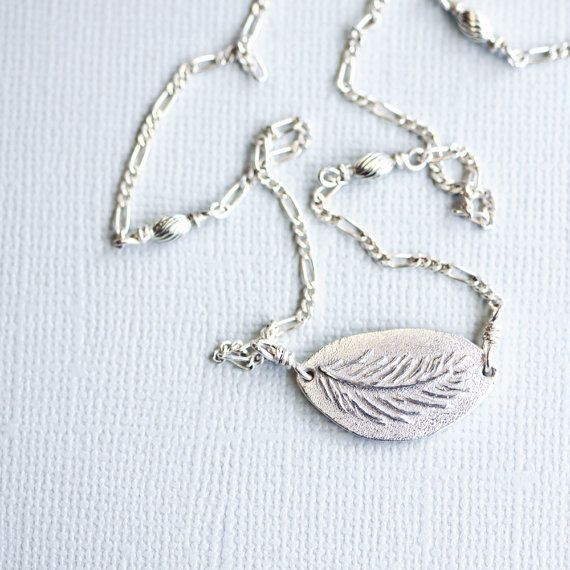 silver feather necklace fine silver pendant sterling by jewelflyt