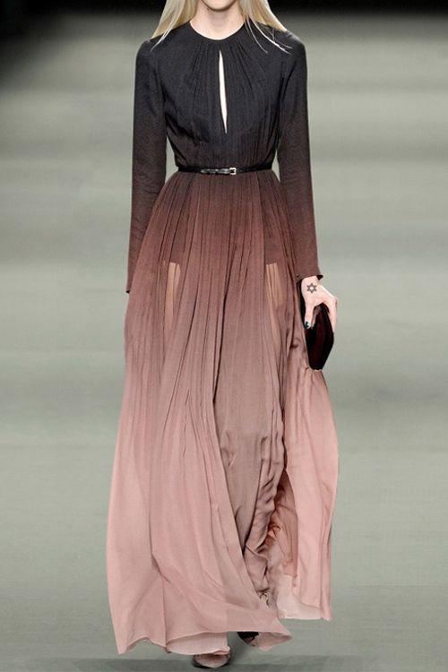 Keyhole Ombre Color Prom Dress: Maxi Dresses | ZAFUL