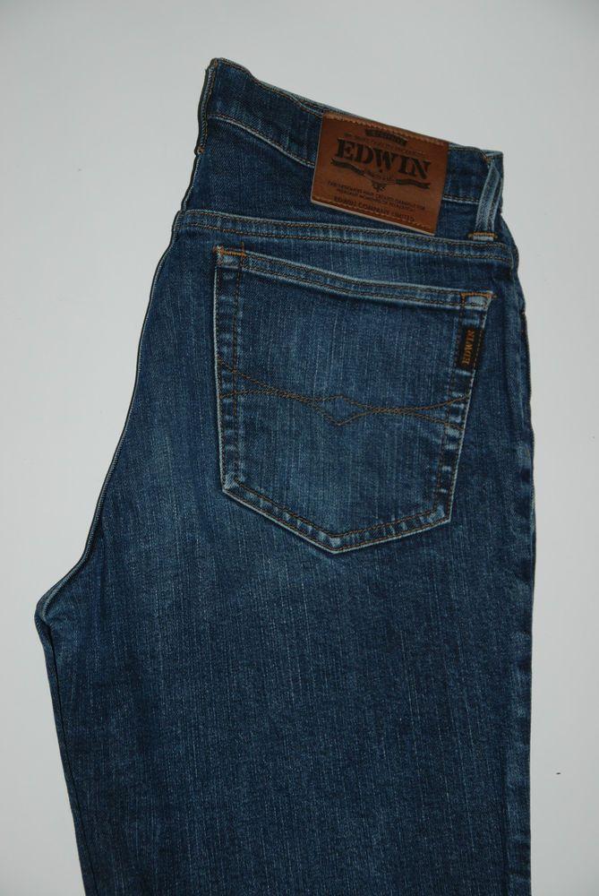 Based UK Edwin Jeans Reno Japanese Denim Mens Womens W32 L35 Stretch High