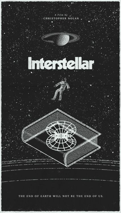 Love this throwback style poster >> michael-marbles:  Interstellar. More details here.