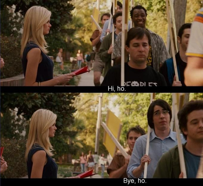 Sydney White- I literally busted out laughing (in case you don't get it, the movie Sydney White is a modern revamp of Snow White)