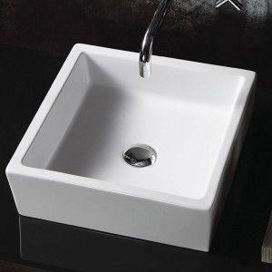 Manolito White Counter Top Basin Vitrous Ceramic White