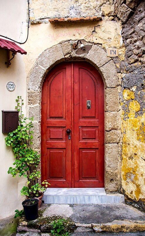 Red door, Rhodes, Greece