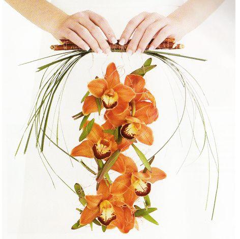 Unique orange bridal wedding bouquet pictures