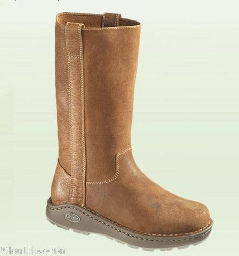 NEW #Women's #Chaco Credence #Tall #Boot #Sienna #Brown Size 7  Sale Slip On Leather $139.90