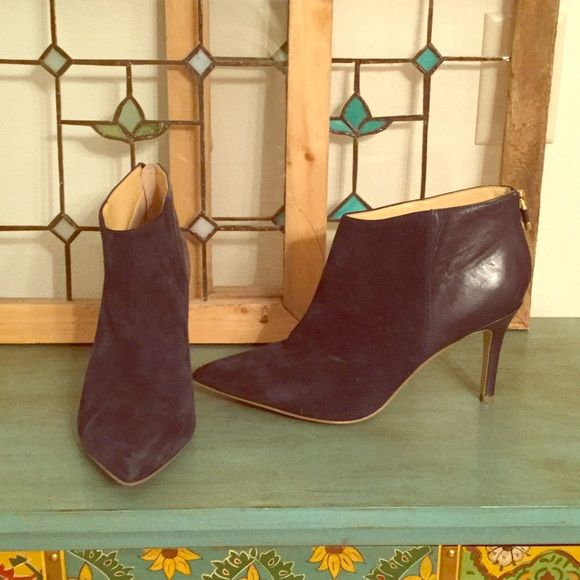 C Wonder navy ankle boots Suede/leather navy pointed ankle boots. Awesome boots!!! Some signs of wear... Price reduced. C Wonder Shoes Ankle Boots & Booties