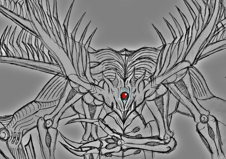 Kaneki Ken Black Death God  Completed Kakuja Form . Centipede + Owl