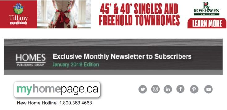 Click the link below to read the January HOMES Publishing Group eNewsletter! http://conta.cc/2qRRF8p Rosehaven Homes, Interior Design Show, Toronto, #IcebreakersToronto, Canada Blooms, Bob Dylan