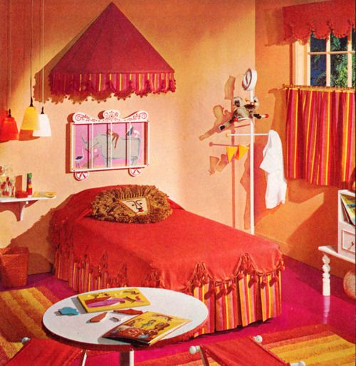 Circus themed kids bedroom c 1961 dig the lion pillow for Circus themed bedroom ideas