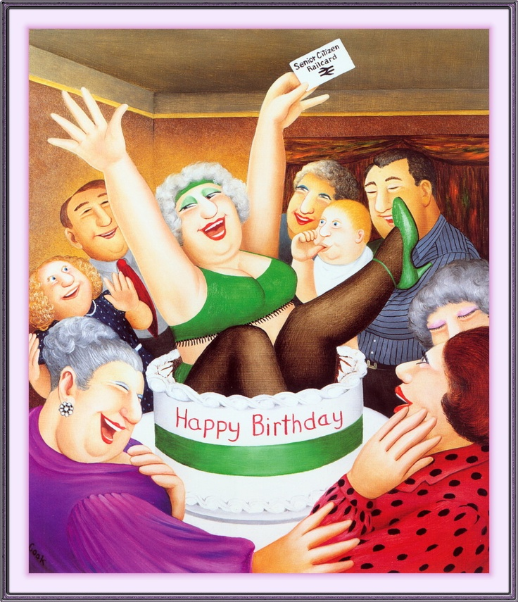 Birthday Surprise  Another great Birthday card when Friends became 'seniors'!!!