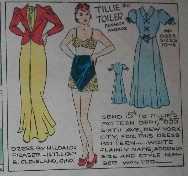 Tillie The Toiler With Uncut Paper Doll From 10 31 1937 Full Size Page