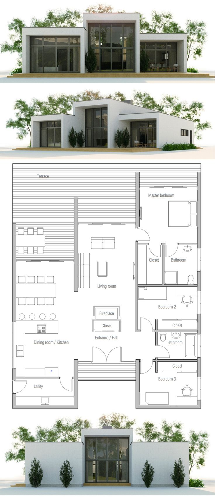 1000 images about maisons sur pinterest plans de maison for Plan maison minimaliste