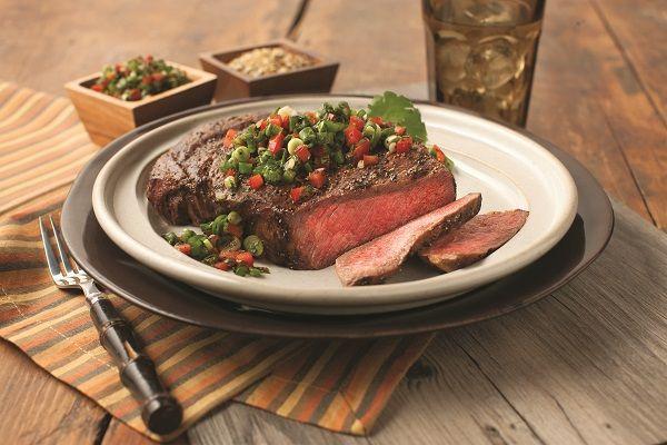Grilled Ribeye Steak with Chimichurri Salsa