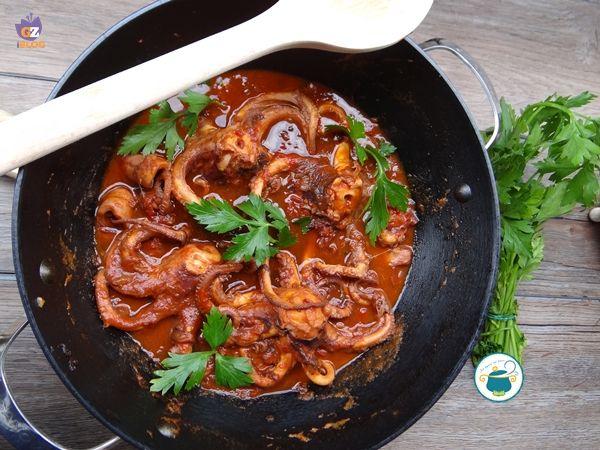 Moscardini+in+salsa+piccante+-+ricetta+pesce+-
