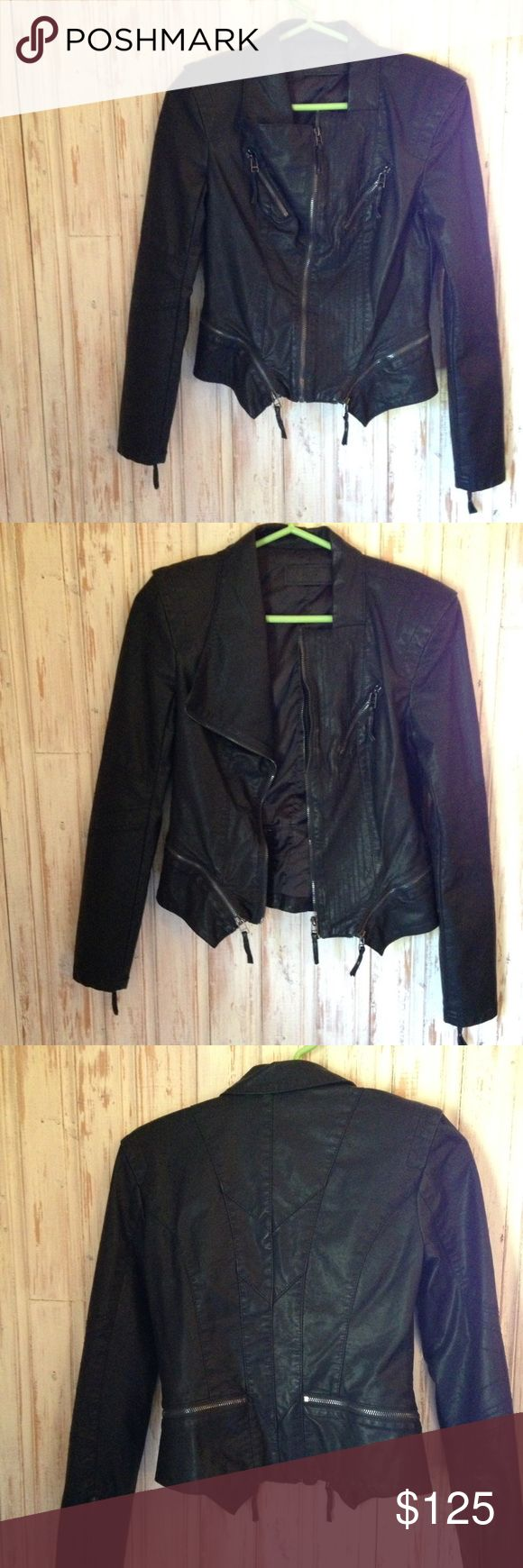 SALE! BlankNYC Leather Jacket BlankNYC leather jacket. Never Worn. Super form fitting and figure flattering. Blank NYC Jackets & Coats