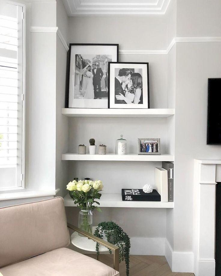 65 DIY Floating Corner Shelve for Living Room Decor Ideas