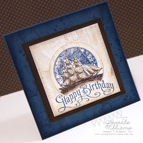 Gorgeous Teneale Williams Card using The open sea stampin' up set