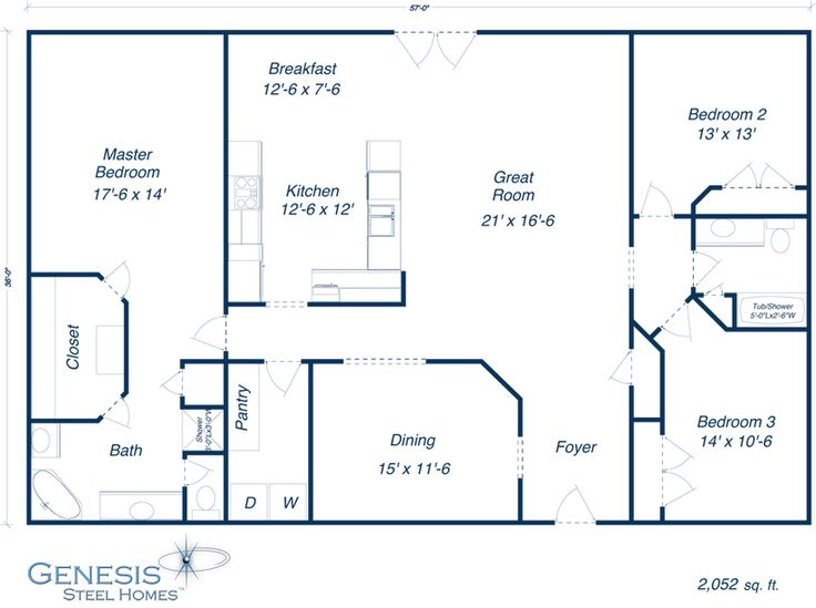 Foyer Plan Kit : Http genesissteelhomes portals plans reagan g