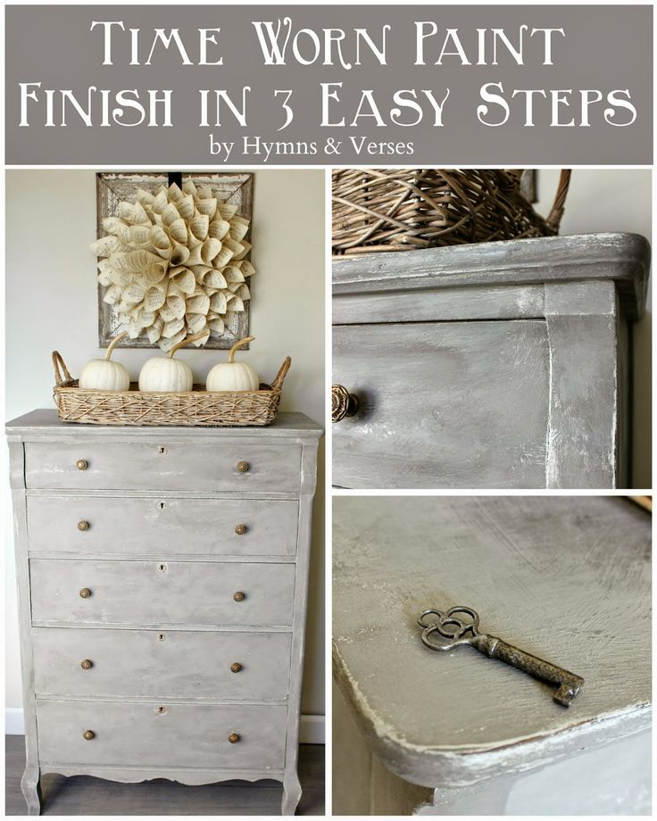 French Lime Paint - My New Love | by @doreencagno  Beautiful Painted Furniture Technique in grey gray