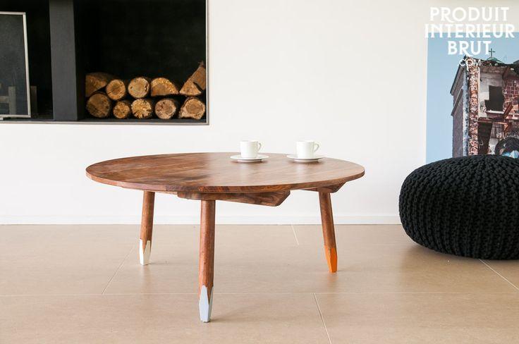 Table basse pencil - style vintage - L'élégance du style vintage scandinave avec un touche de couleur