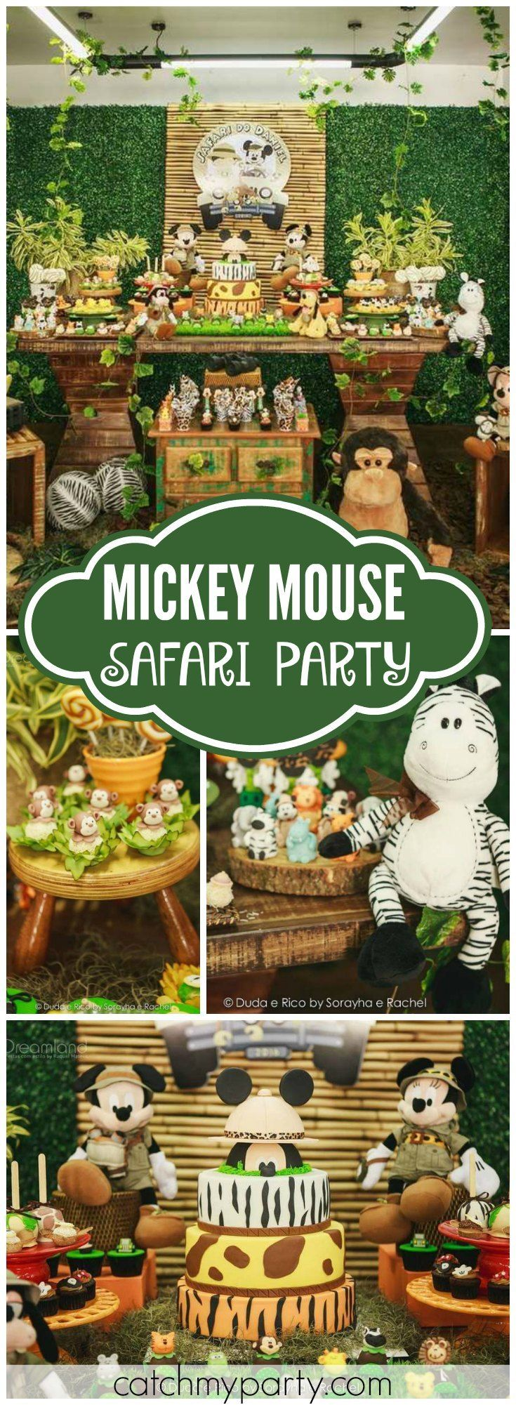 What an amazing Mickey Mouse safari birthday party! See more party ideas at CatchMyParty.com!