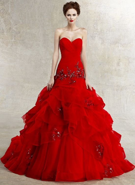 red dress, so glamorous by Kelly , via Behance
