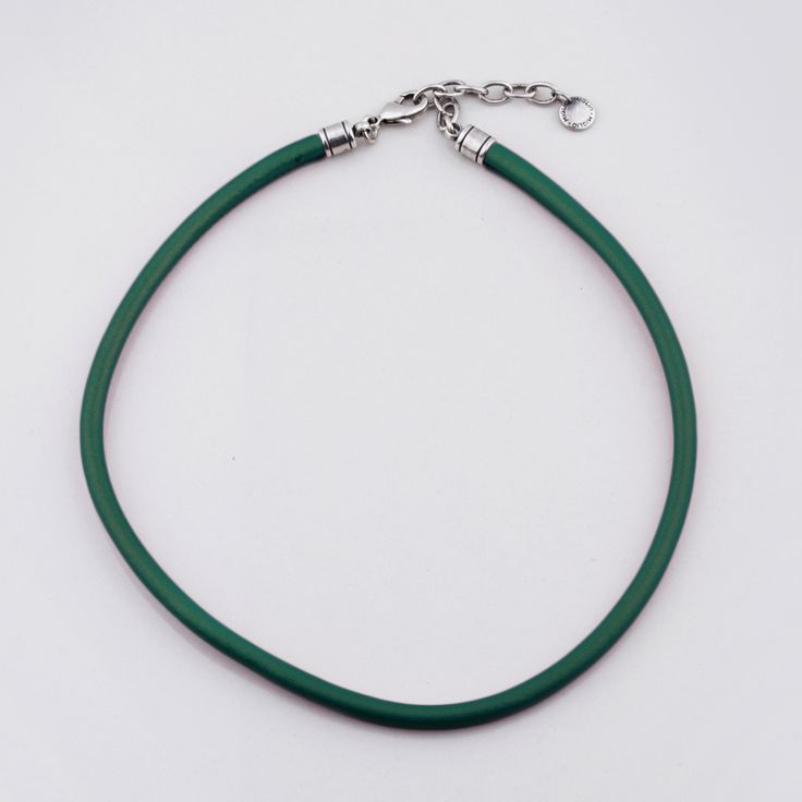 #miglio N1566 Forest green sewn leather necklace