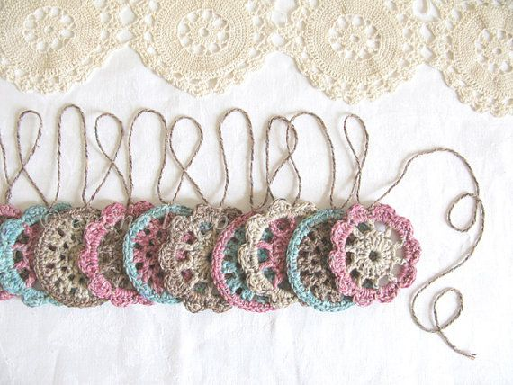 Olivia cottage chic flower garland by emmalamb,