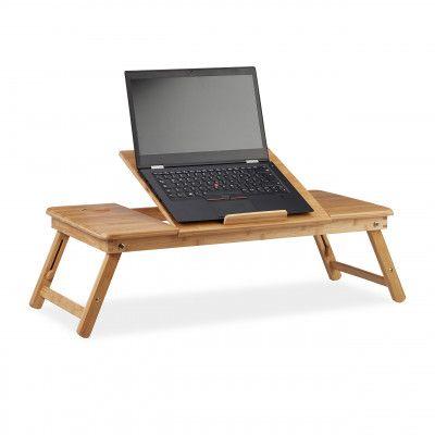 9fb140b10163 Stolík na notebook do postele Bambusový XL