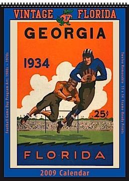 2009 Vintage Florida Gators Football Calendar
