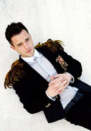 cords, feathers belt, idk. but I like it. Brandon Flowers