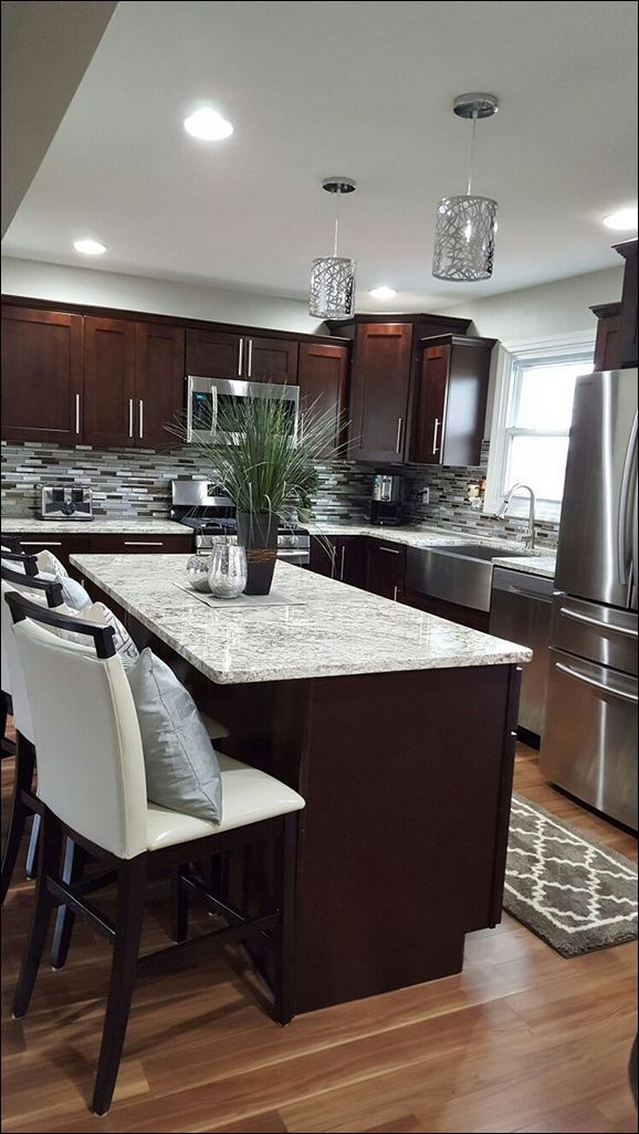 Kitchen Light Colored Granite Names Black Granite Countertops Dark Gray Countertops How Much For Quartz Counte Home Kitchens Home Decor Kitchen Kitchen Remodel