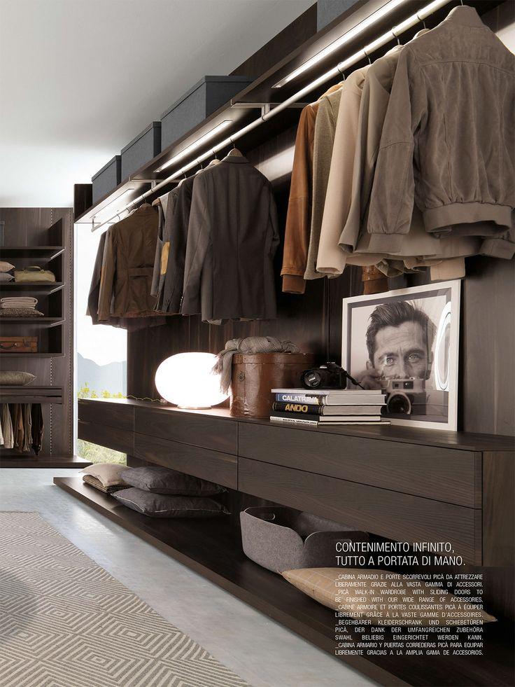 Closet rod mounted on upper shelf. Recessed Led lighting.