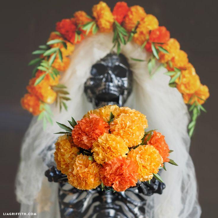 113 best dia de los muertos images on pinterest sugar skull sugar tissue paper marigolds mightylinksfo