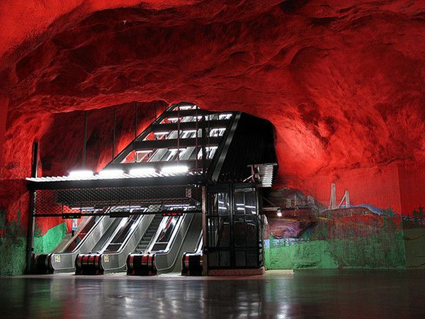 World Most Amazing Interior Design Of Subway Stations. The Stockholm Subway System is said to be the world's longest art exhibit