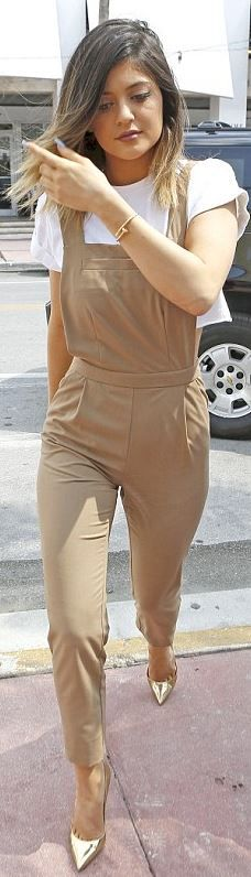 Who made Kylie Jenner's nude jumpsuit that she wore in Miami?