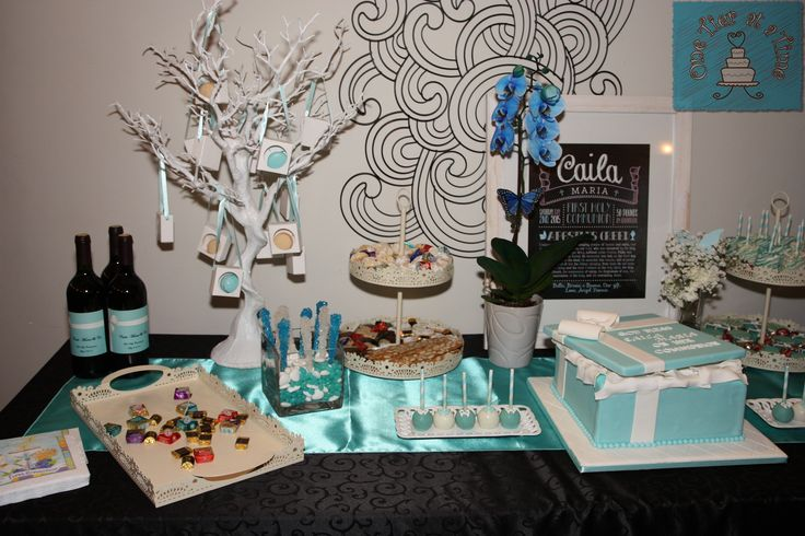 Tiffany themed dessert table created by One Tier At A Time