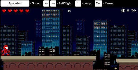 Spiderman  HTML5 canvas Game