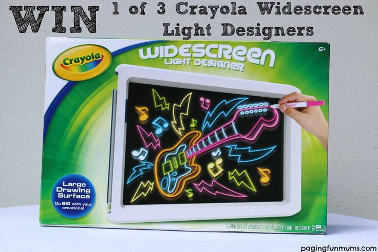 { Fabulous Crayola give-away!! }   WIN one of THREE Widescreen Light Designers including delivery just in time for Christmas!!   http://pagingfunmums.com/2014/11/07/learning-rainbow-number-facts/