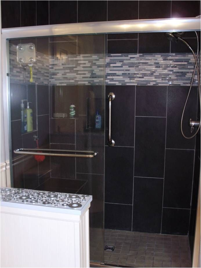 black tiles in bathroom ideas 78 best images about on chrome finish 22775 | 5009c496cf2b26735a32f995d0a940fa