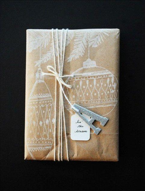 Почтовая оберточная бумага и незамысловатый рисунок — и перед вами винтажная упаковка