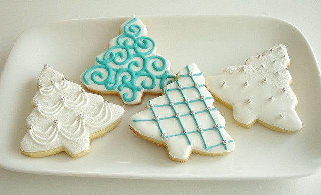 Sugar cookiesChristmas Food, Xmas Trees, Sugar Cookies, Christmas Cookies, Winter Trees, Cookies Decor, Trees Cookies, Christmas Treats, Christmas Trees