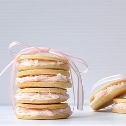 Pink Grapefruit Sandwich Cookies | Yum | Pinterest